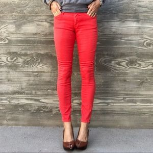 "MOTHER ""The Looker Ankle"" Stretch Jeans"
